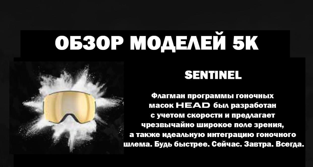 Маска Head MAGNIFY 5K blue/KORE с дополнительной линзой